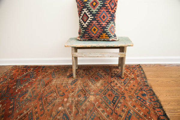 4x5 Antique Beshir Rug - Old New House