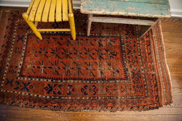 3x6 Antique Belouch Rug Runner - Old New House