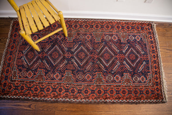 3x5 Vintage Tribal Belouch Rug - Old New House