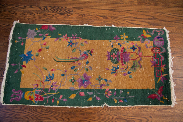 2x4 Small Art Deco Chinese Rug - Old New House
