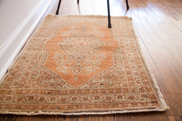 2x3 Vintage Persian Tabriz Rug Mat - Old New House