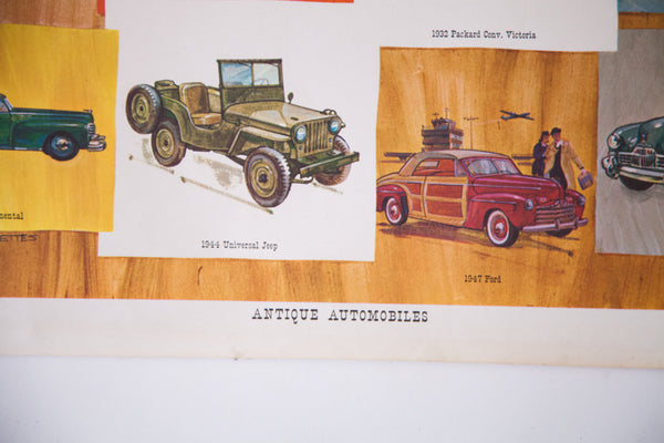 Antique Automobiles Poster - Old New House