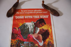 Vintage 70s Re Release Gone With The Wind Original Poster