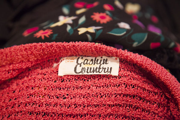 Vintage Cashin Country Pink Knit Sweater