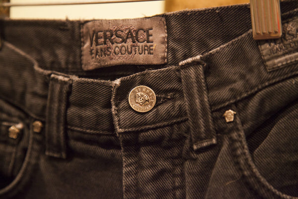 Versace Jeans Couture Faded Acid Wash High Rise Pants - Old New House