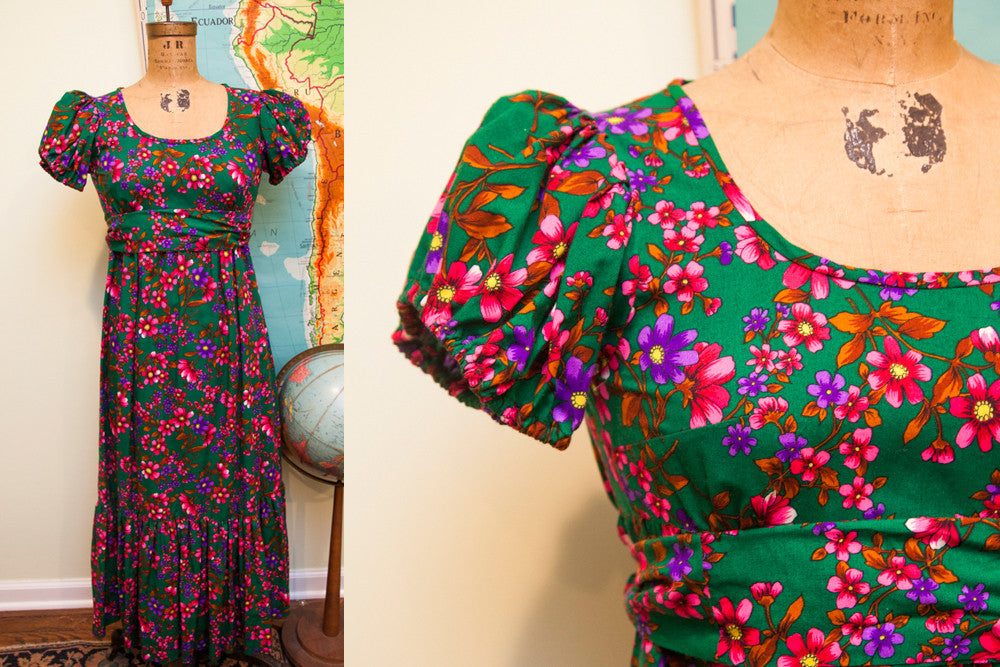 Vintage Floral Spring Dress - Old New House