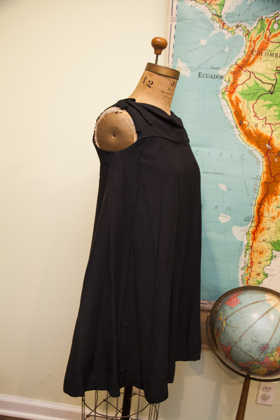 Vintage 60s Black Romper Dress