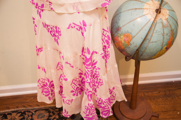 Vintage Betsey Johnson Floral Two Piece Dress