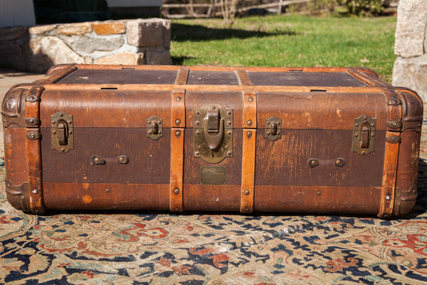 Vintage Indestructo Trunk Coffee Table - Old New House