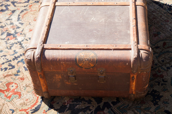 Vintage Indestructo Trunk Coffee Table