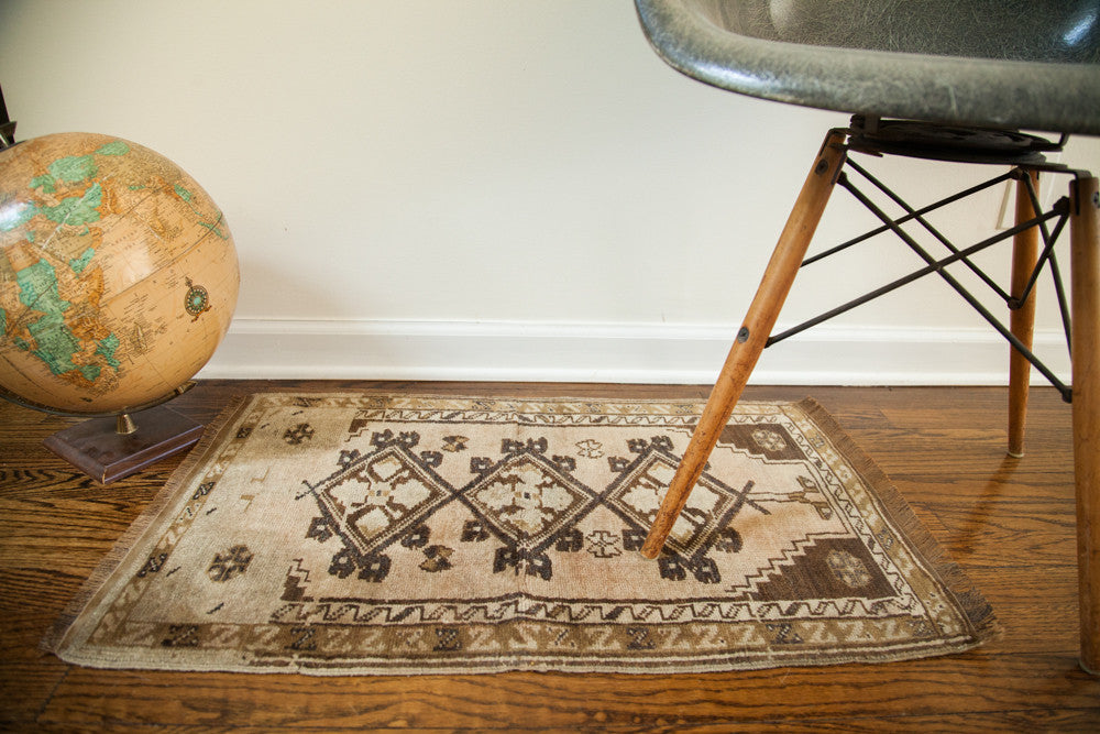 2x2.5 Muted Vintage Turkish Rug - Old New House
