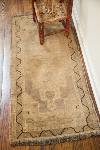 2x4 Faded With Outline Vintage Turkish Rug Runner - Old New House