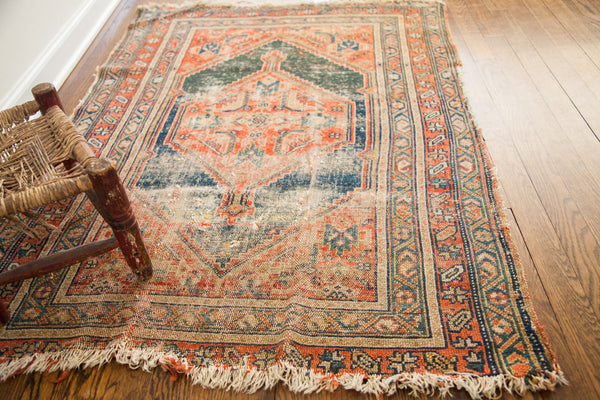 3x4.5 Antique Worn Tribal Rug - Old New House