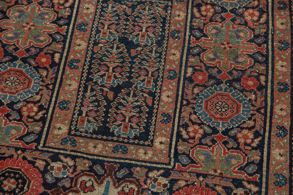 Square Blue Tribal Malayer Rug / Item 1638 image 3