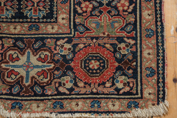 Square Blue Tribal Malayer Rug / Item 1638 image 5