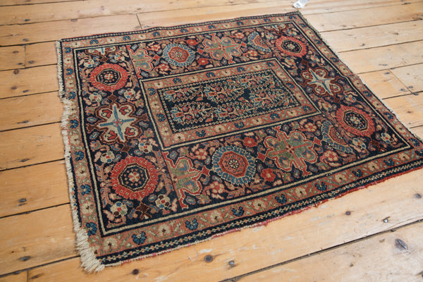 Square Blue Tribal Malayer Rug / Item 1638 image 6