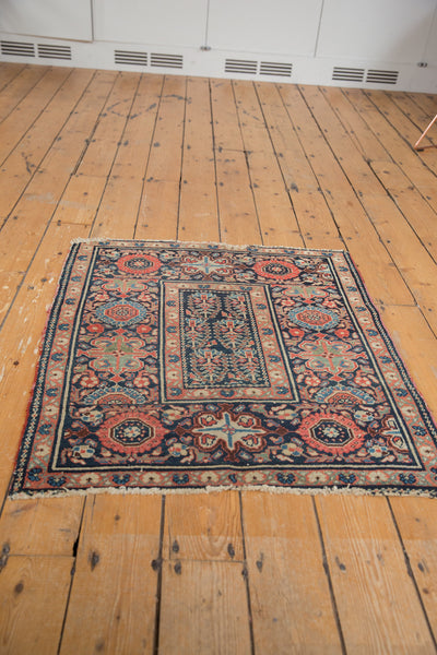 Square Blue Tribal Malayer Rug / Item 1638 image 10