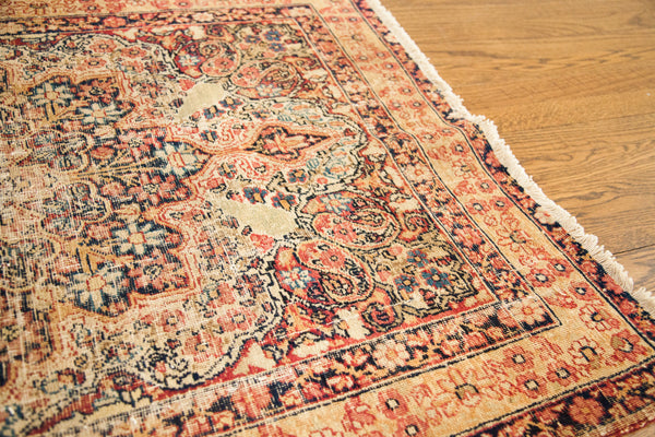 3x4 Worn Square Antique Kerman Rug - Old New House