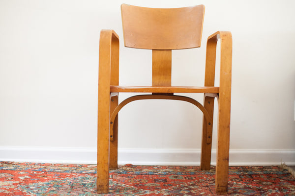 Early Vintage Thonet Bent Plywood Chair