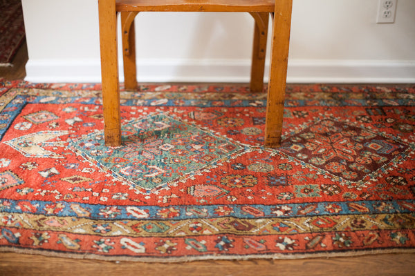 3.5x6 Antique Heriz Fragment Rug - Old New House
