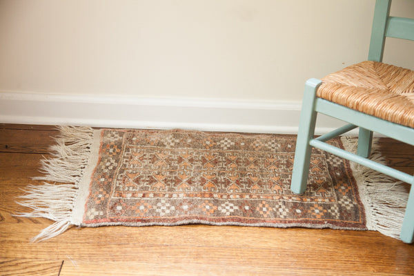 1.5x3 Vintage Afghani Rug Mat - Old New House