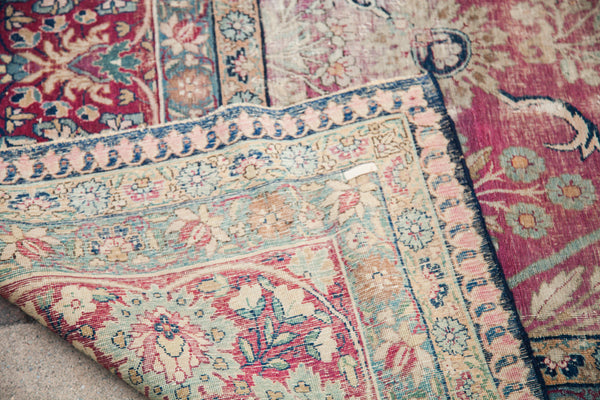 9x12 Faded Worn Persian Kerman Living Room Rug - Old New House