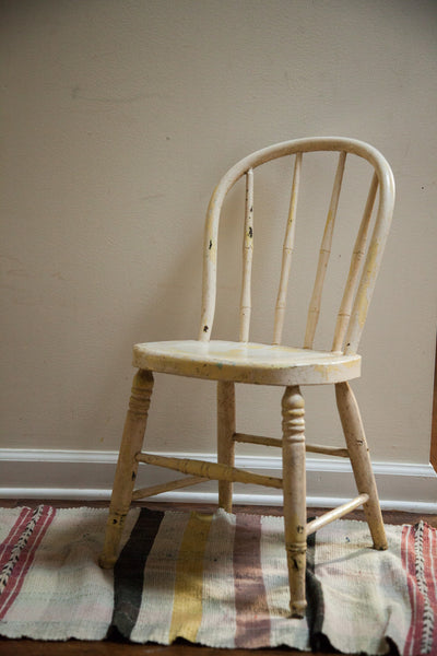 Chippy Antique Childs Windsor Chair Shabby Chic - Old New House