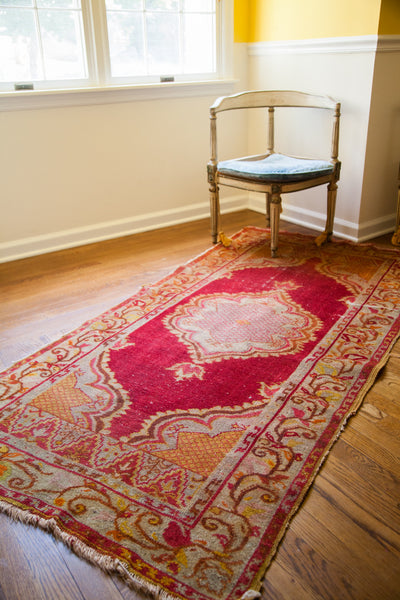 3x6.5 Cranberry Red Rug Runner - Old New House