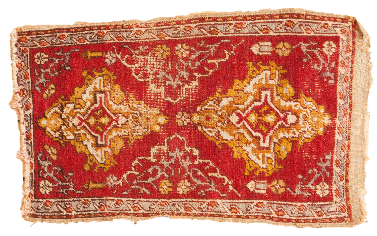 Captivating Small Turkish Scatter Rug .