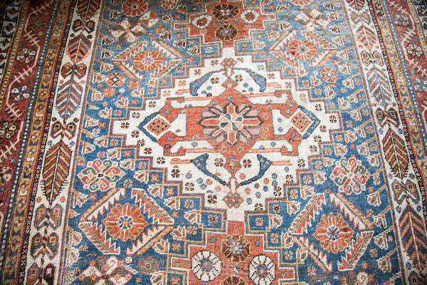 4x6 Powder Blue Qashqai Persian Rug - Old New House