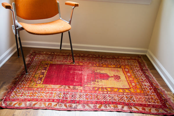 3.5x4 Red Turkish Prayer Rug - Old New House