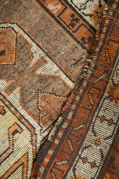 4x5.5 Brown And Yellow Antique Caucasian Rug - Old New House