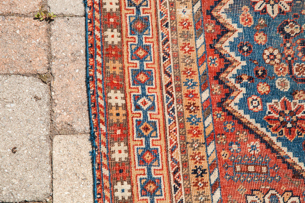 4x7 Subtle Colors Antique Shiraz Rug