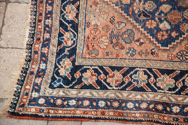 4x5 Antique Afshar Area Rug - Old New House
