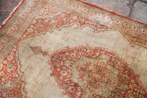 RESERVED 2x2.5 Antique Silk Persian Tabriz Rug Mat - Old New House