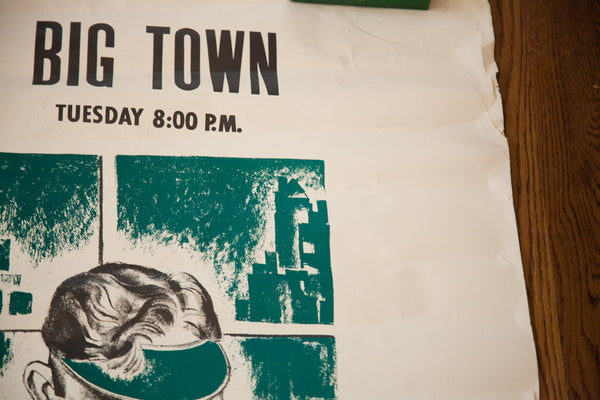 WGAN Radio Big Town Poster - Old New House