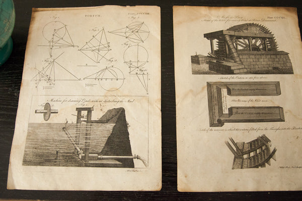 18th Century Geometric Porism Plate Engravings - Old New House