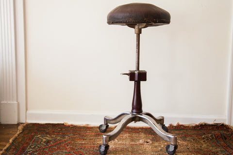 Rare 1920's Antique Genothalmic Shuron Medical Stool - Old New House