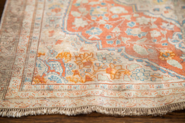 2x3 Silk Tabriz Antique Persian Rug Mat - Old New House
