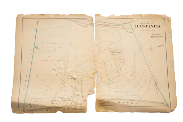 Antique Hastings NY Westchester Map - Old New House