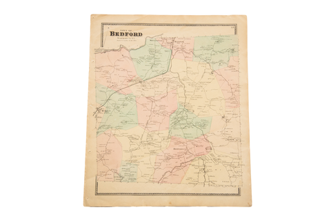 Antique Bedford Ny Westchester Map