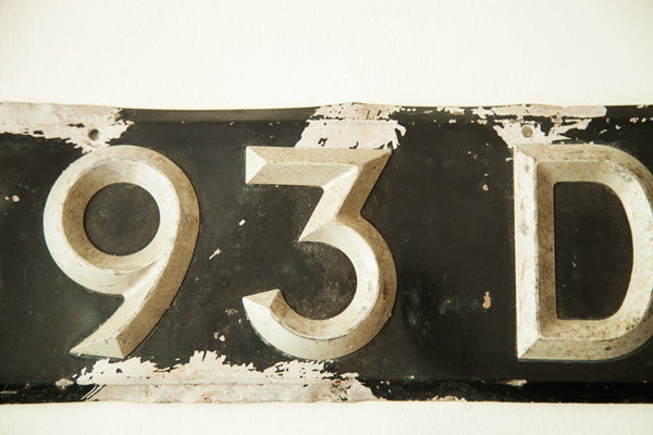 Art Deco Vintage British License Plate - Old New House