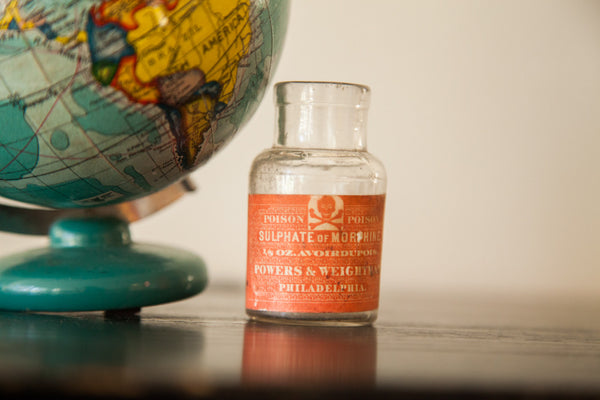 Antique Poison Morphine Bottle - Old New House