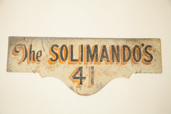 Vintage Deco Double Sided House Sign Solimandos - Old New House