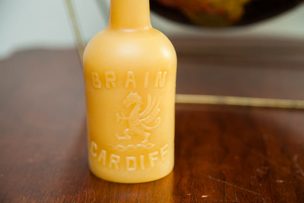 Antique Bottle Beeswax Candle Collection Dragon Alcohol - Old New House