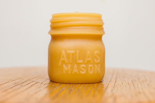 Atlas Mason Jar Beeswax Candle - Old New House