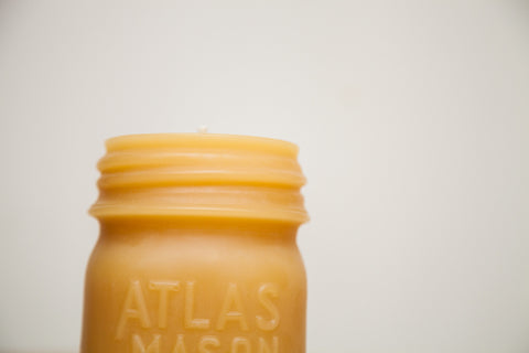 Atlas Mason Jar Beeswax Candle
