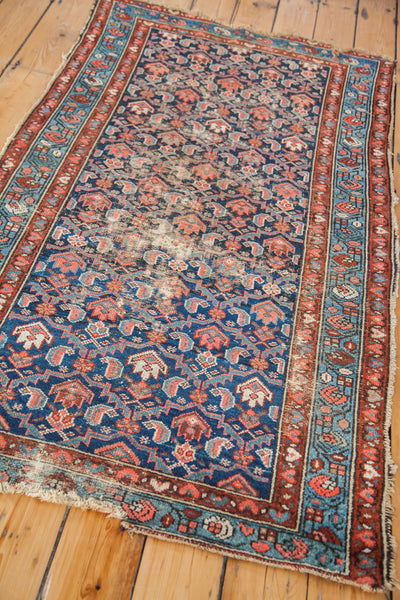 3x6 Worn Blue Hamadan Rug Runner - Old New House