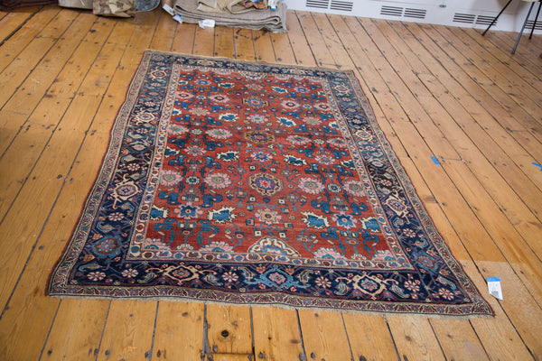 4.5x7 Antique Persian Bijar Area Rug - Old New House