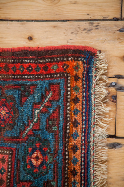 4x6 Blue And Red Antique Tribal Area Rug - Old New House